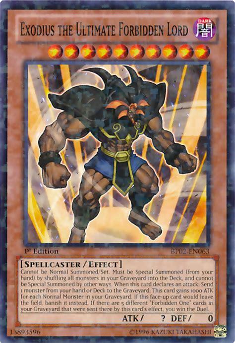 card errata exodius the ultimate forbidden lord yu gi oh