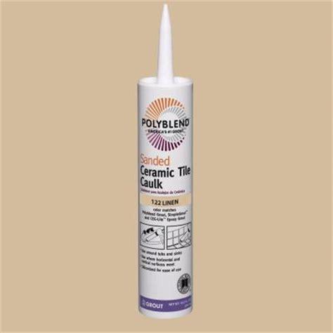 custom building products polyblend 122 linen 10 5 oz sanded ceramic tile caulk pc12210s the