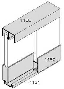rail et accessoire vitrine coulissante ferrure de placard quincaillerie ameublement