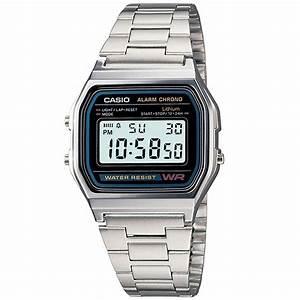 Retro Uhr Damen : casio retro digitaluhr a158wa 1df armbanduhr herren damen schwarz neu ovp ebay ~ Markanthonyermac.com Haus und Dekorationen