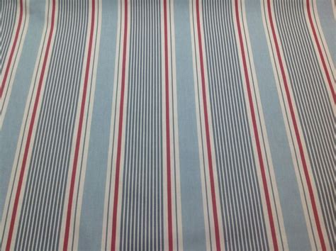 Clarke+clarke Sail Stripe Marine Nautical Cotton Fabric.curtains/upholstery Yellow And White Striped Curtain Fabric Crystal Ball Rod Air Burner Blue Curtains Bedroom French Door Rods Lowes On A Big Window Small Windows Long Orange Walls What Color