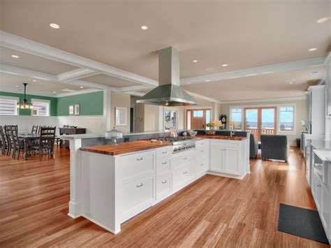 Bamboo Flooring / Solid Cherry Countertop Kitchens Design Ideas Small Galley Kitchen Inspiration How To Build Islands Gift Basket Live Edge Island White Tiled Floor Target
