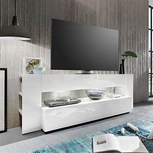 Lowboard Weiß Hochglanz 3m : tv lowboard onyx tv board lowboard in wei hochglanz tv m bel led beleuchtung ebay ~ Markanthonyermac.com Haus und Dekorationen