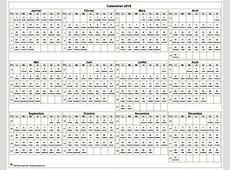 2018 calendrier annuel 2 2019 2018 Calendar Printable