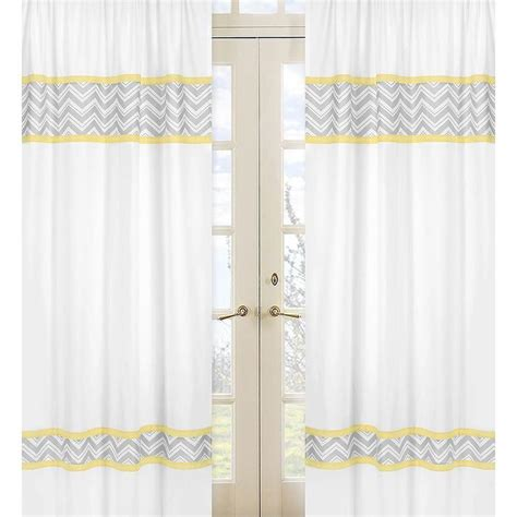 yellow and grey zig zag 84 inch curtain panel pair overstock