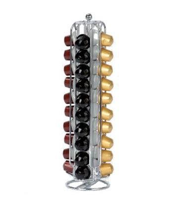distributeur de capsules nespresso pivotant chrome wadiga