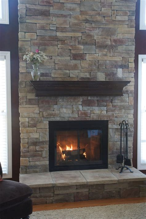 Stone Fireplace Mantels With Chimney  Traba Homes