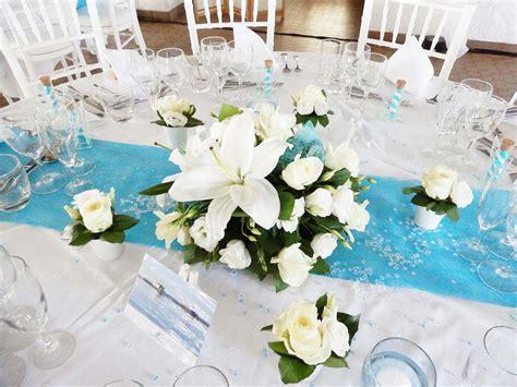deco table mariage bleu turquoise et blanc votre heureux photo de mariage