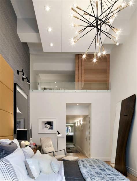 chambre contemporaine grande hauteur sous plafond picslovin