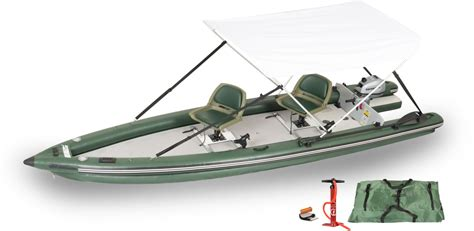 16 Inflatable Boat by Sea Eagle Fsk16 2 Person Inflatable Fishing Boats Package