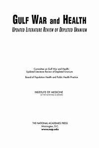 Front Matter | Gulf War and Health: Updated Literature ...
