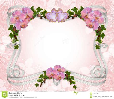 orchid 233 es et lierre de cadre d invitation de mariage photos libres de droits image 13545558