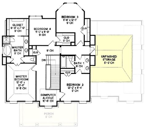 style house plan 3 beds 2 baths 2630 sq ft plan colonial style house plans 2630 square foot home 2