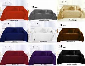 Plaids Für Sofas : tagesdecke berwurf plaid decke dekodecke alcantara optik 210x280cm div farben ebay ~ Markanthonyermac.com Haus und Dekorationen