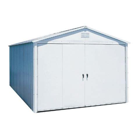 arrow 10 1 8 ft x 21 3 8 ft galvanized steel storage shed