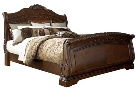 shore sleigh collection b553 king bed frame