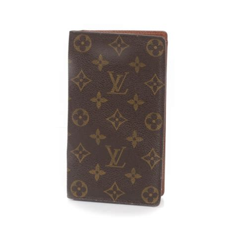 louis vuitton monogram porte chequier cartes credit european checkbook wallet 26660