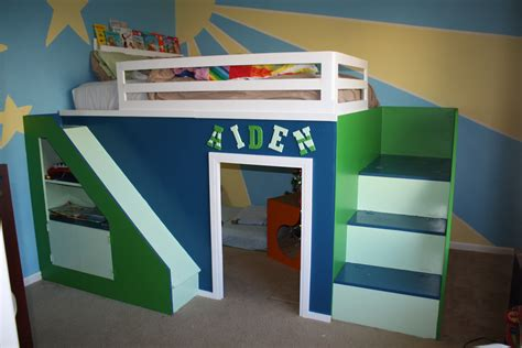 white my build size playhouse loft bed
