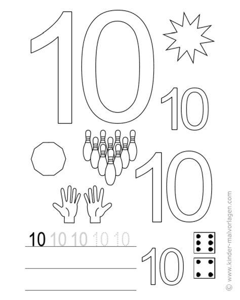 Zahlen lernen zählen Übungsblätter ausdrucken
