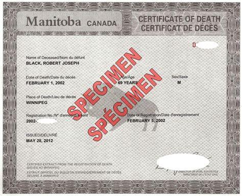 certificats d identit 233 le bureau de l 233 tat civil province du manitoba