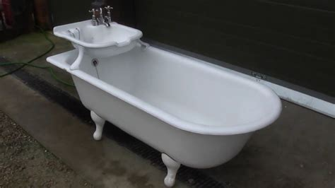 bootz cast iron bathtub unique antique reclaimed cast iron bath with built in sink