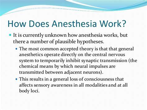 Analgesia Vs Anesthesia