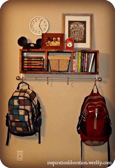 backpack hooks for home backpack hooks for home appealing entryway shelf with