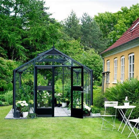 serre de jardin 8 8m 178 anthracite et verre horticole premium juliana