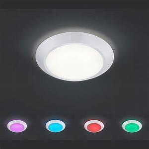 Deckenlampe Mit Led : led deckenlampe dimmbar mit fernbedienung ~ Whattoseeinmadrid.com Haus und Dekorationen