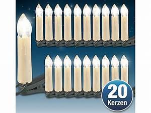 Led Weihnachtsbeleuchtung Kabellos : lunartec led weihnachtsbaum lichterkette mit 20 led kerzen ip20 ~ Markanthonyermac.com Haus und Dekorationen