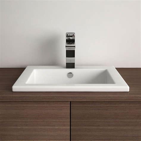 vasque 224 encastrer carr 233 e 42 5x42 5 cm plage de robinet c 233 ramique amiri