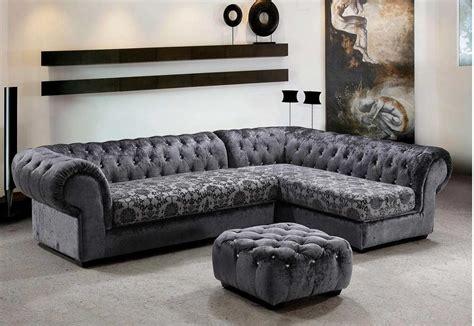 grey micro fiber sectional sofa ottoman sectionals