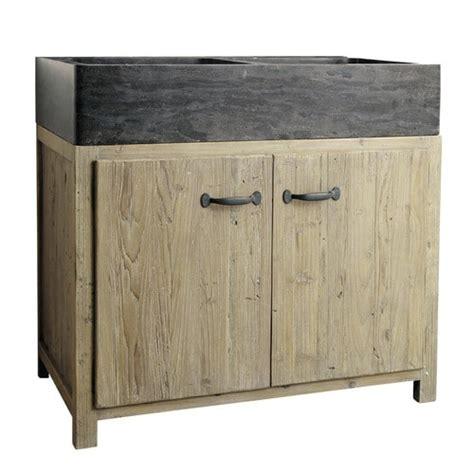 meuble bas de cuisine avec 233 vier en bois recycl 233 l 90 cm copenhague maisons du monde