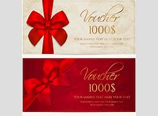 Gift voucher template vector free vector download 17,291