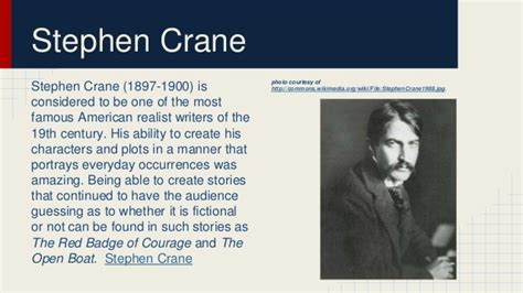 The Open Boat By Stephen Crane Setting by Realism Existentialism