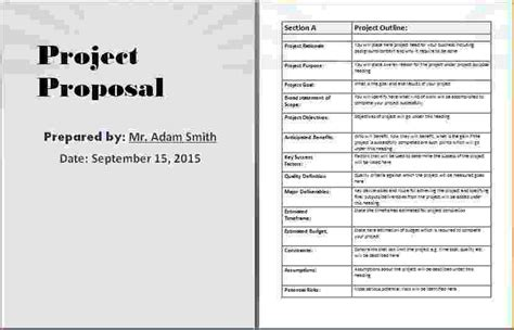 8+ Project Proposal Template Word