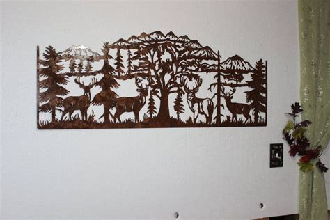 Top Of Mountain Scene Metal Wall Art