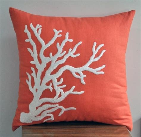 coral pillow for nursery home underwater nursery