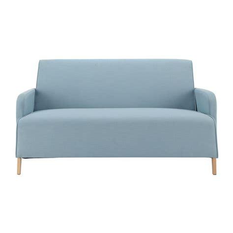 canap 233 2 places en tissu bleu adam maisons du monde