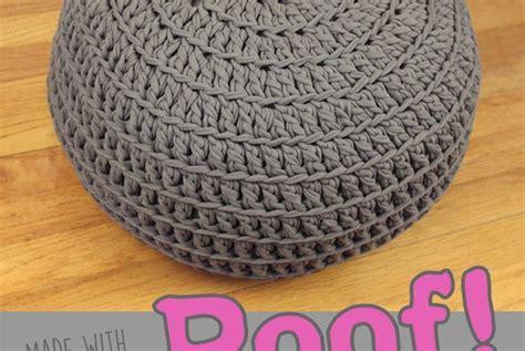 free crochet pattern poof floor pillow pouf ottoman gleeful things ottomans floor pillows