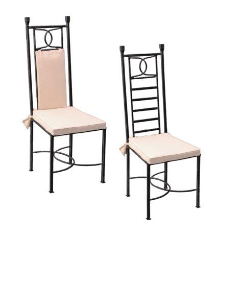 chaise fer forg 233 lot de 2 destockage promotions