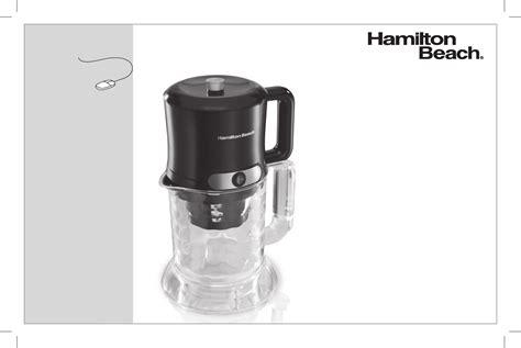 Download Hamilton Beach Iced Coffee Maker 40913 User's