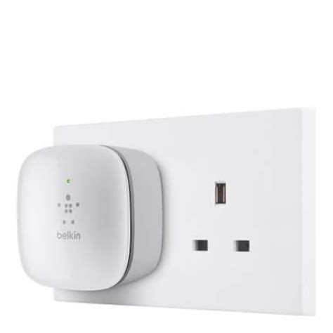 belkin n300 universal wi fi range extender wireless signal booster easy setup wps function