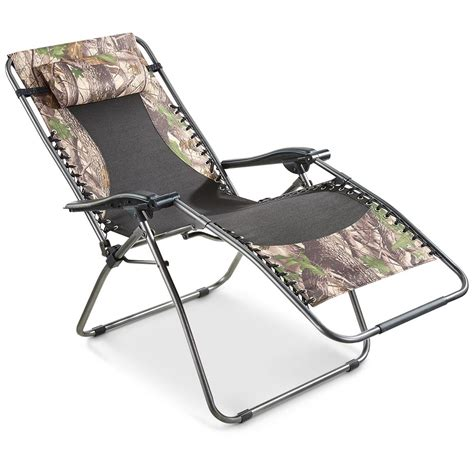 guide gear oversized 500 lb zero gravity camo chair