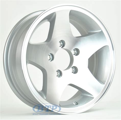 14 Boat Trailer Wheels by Aluminum Boat Trailer Wheel 14 Inch 5 Star 5 Lug 5 On 4 1