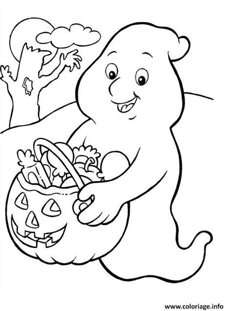 coloriage fantome donne des bonbons jecolorie
