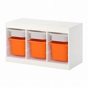 Boxen Zur Aufbewahrung : trofast aufbewahrung mit boxen wei orange ikea ~ Markanthonyermac.com Haus und Dekorationen