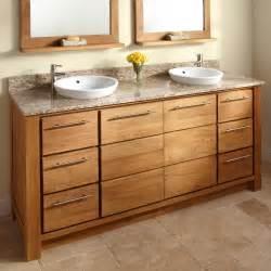 wood bathroom cabinet and granite vanity tops with vessel sinks decofurnish