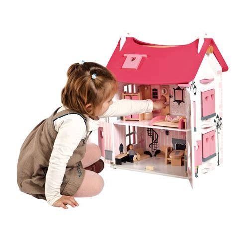 maison de poup 233 es en bois quot mademoiselle quot par janod la f 233 e du jouet