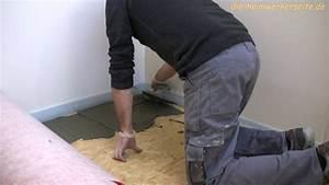Entkopplungsmatte Auf Holz Verlegen : entkopplungsmatte verlegen youtube ~ Markanthonyermac.com Haus und Dekorationen